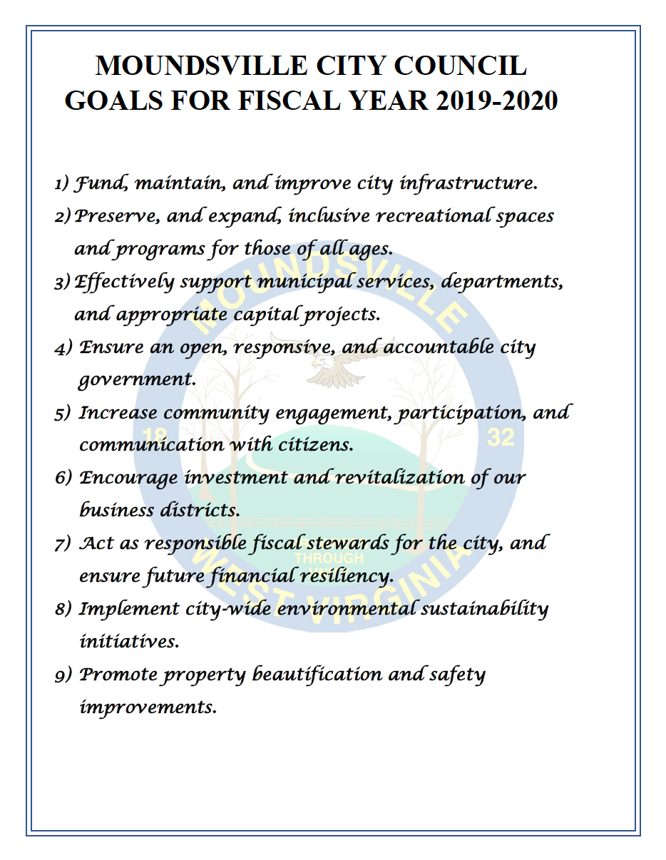Image of City Council Goals