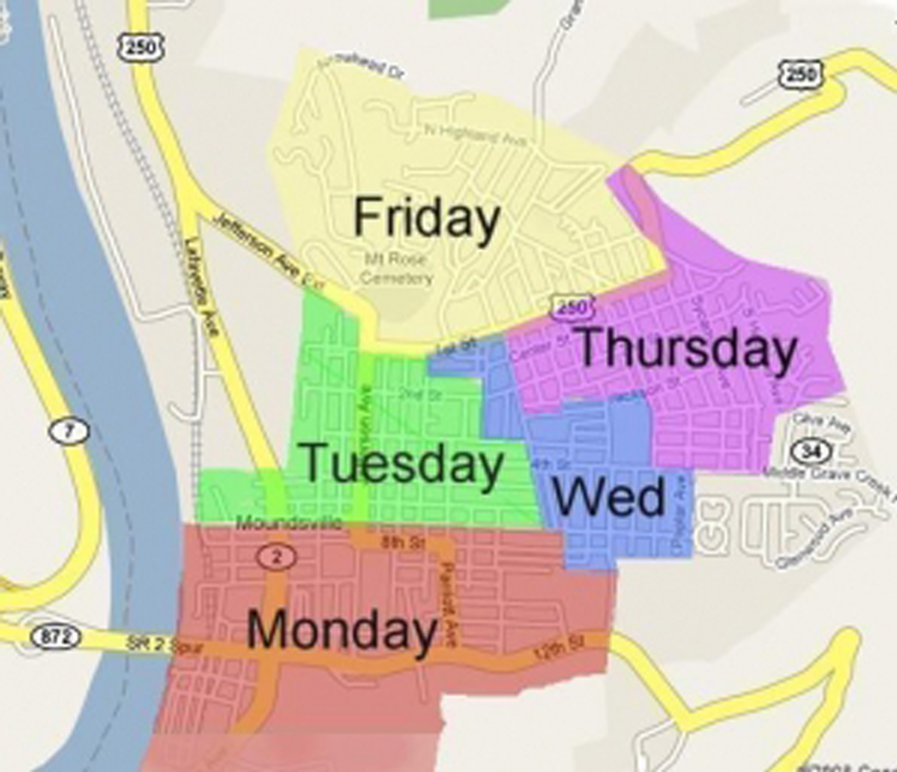 Image of Garbage Pickup Map